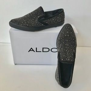 Bedazzled Pointy Toe Deck Shoe